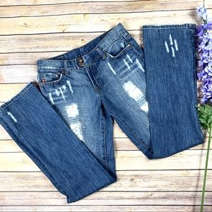 7 For All Mankind Distressed Flare Jeans 30